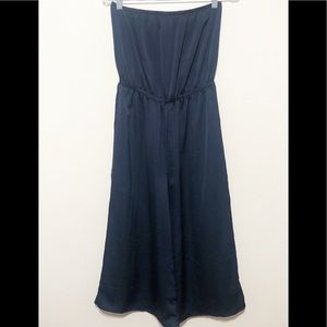 Urban Outfitters Navy Blue Strapless Jumpsuit Crop